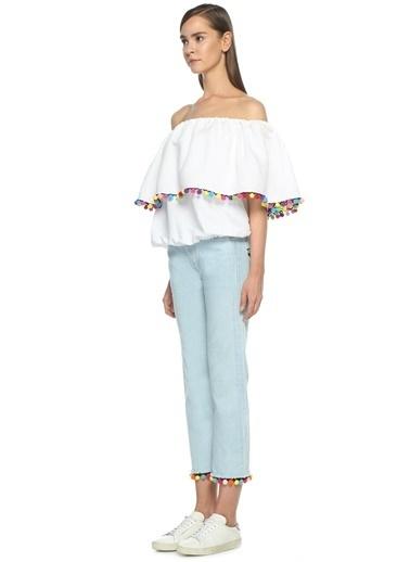 Forte Couture Jean Pantolon Mavi